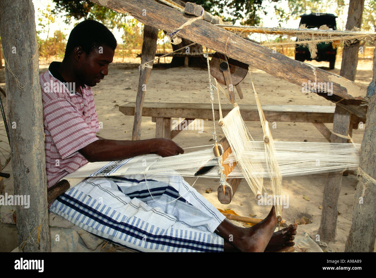Traditional weaver - Stock Image