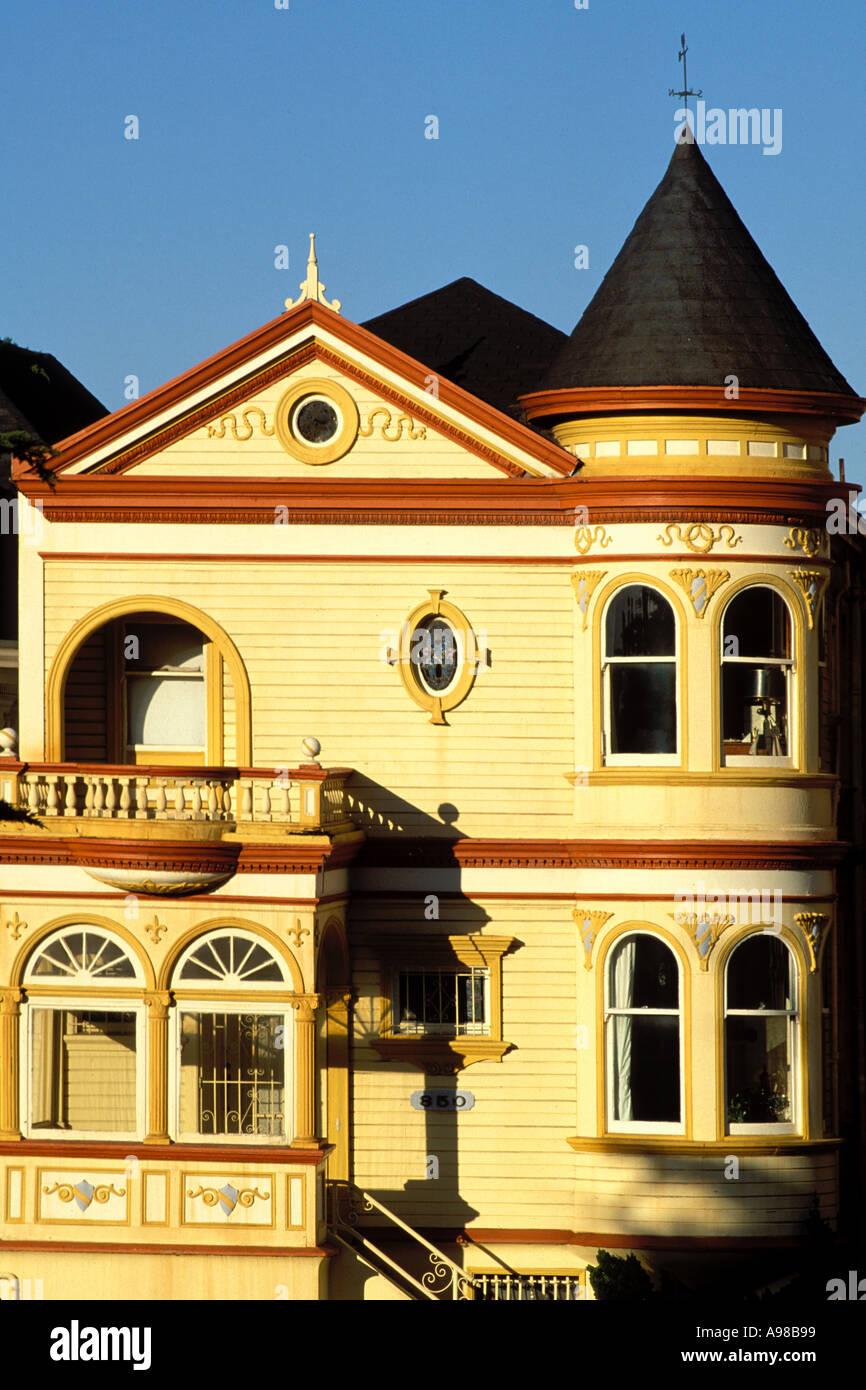 California, San Francisco, Victorian house - Stock Image