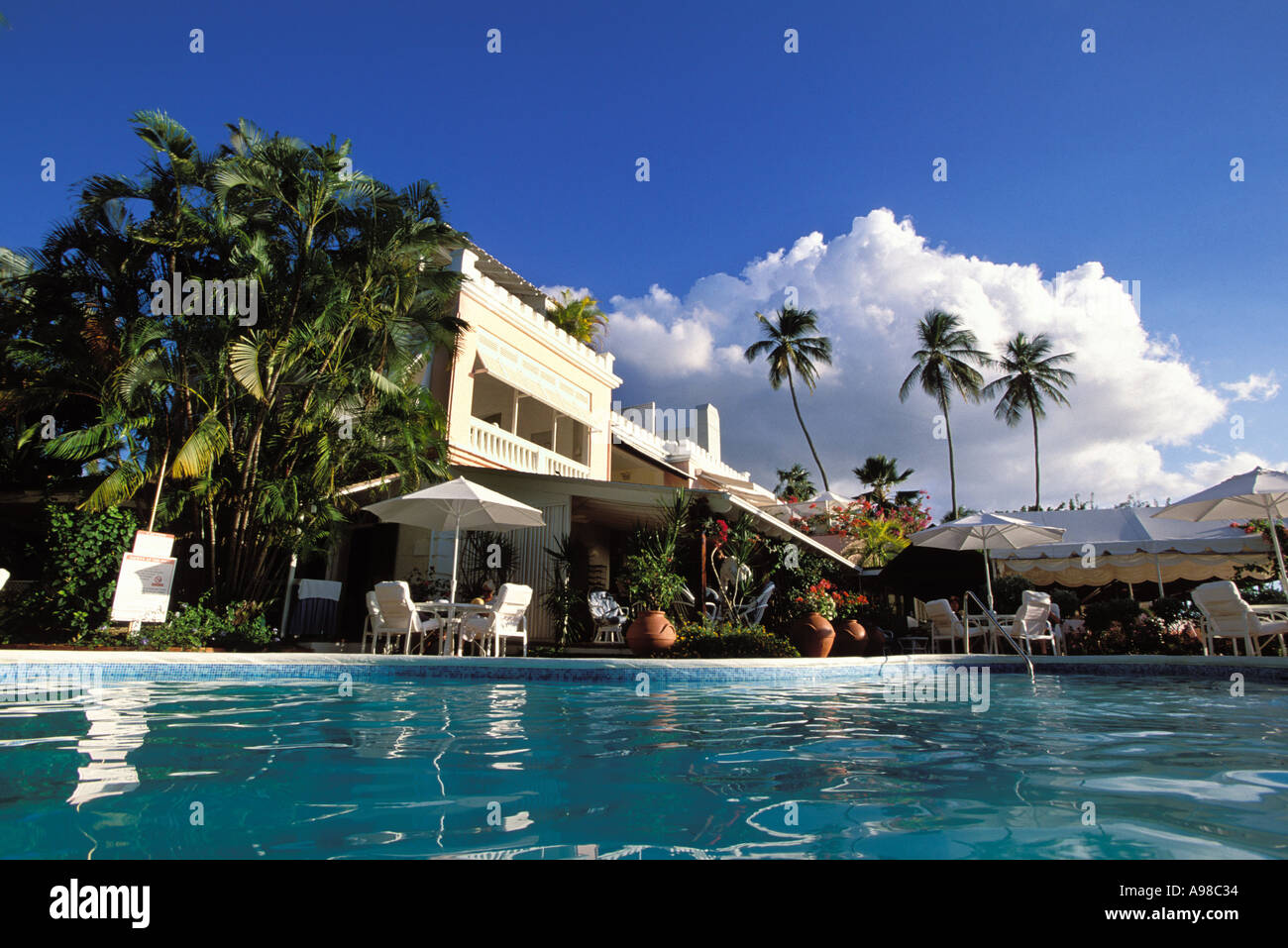 Barbados, St Peter, Cobblers Cove Stock Photo