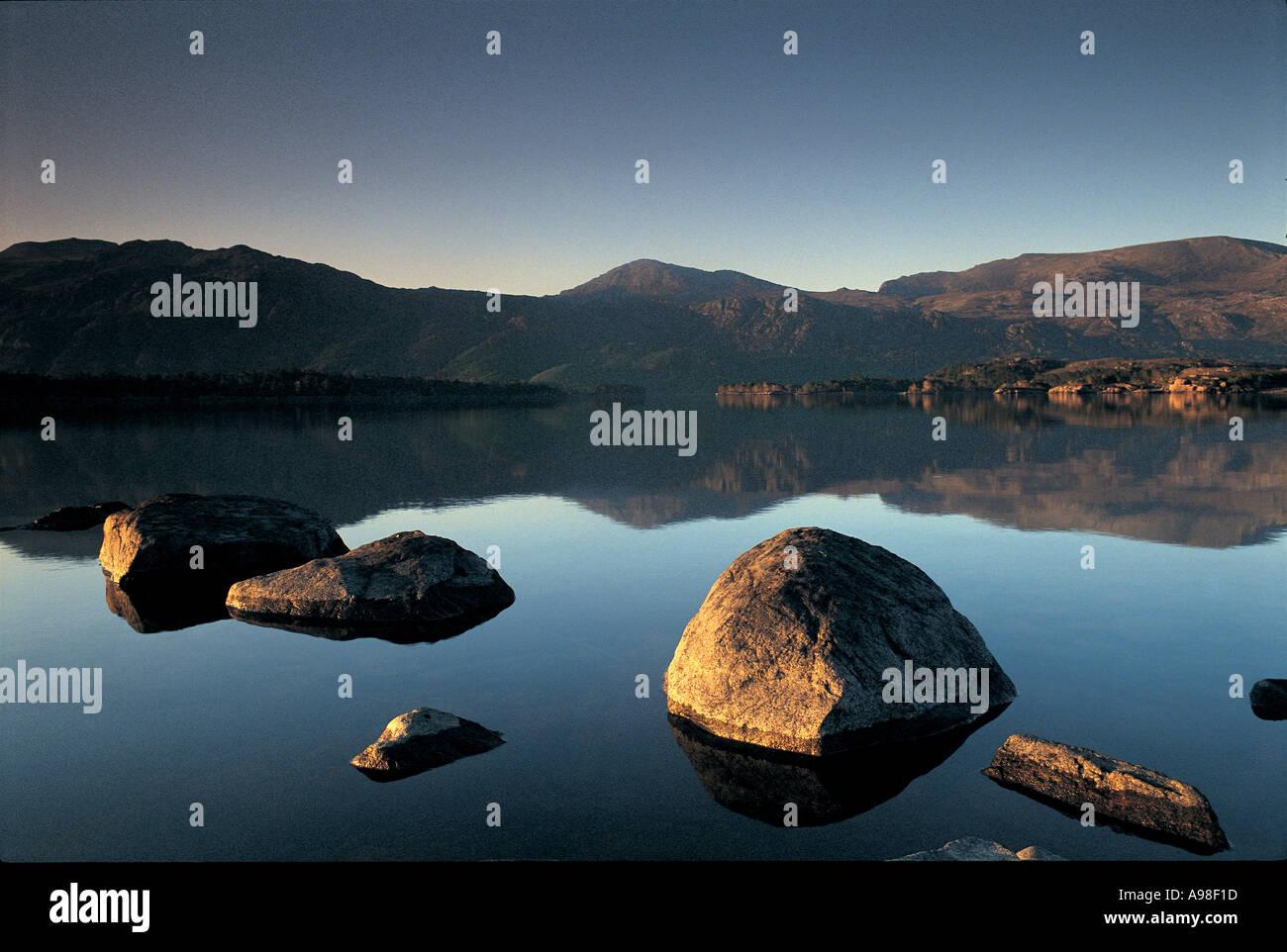 Loch Maree Scotland UK - Stock Image