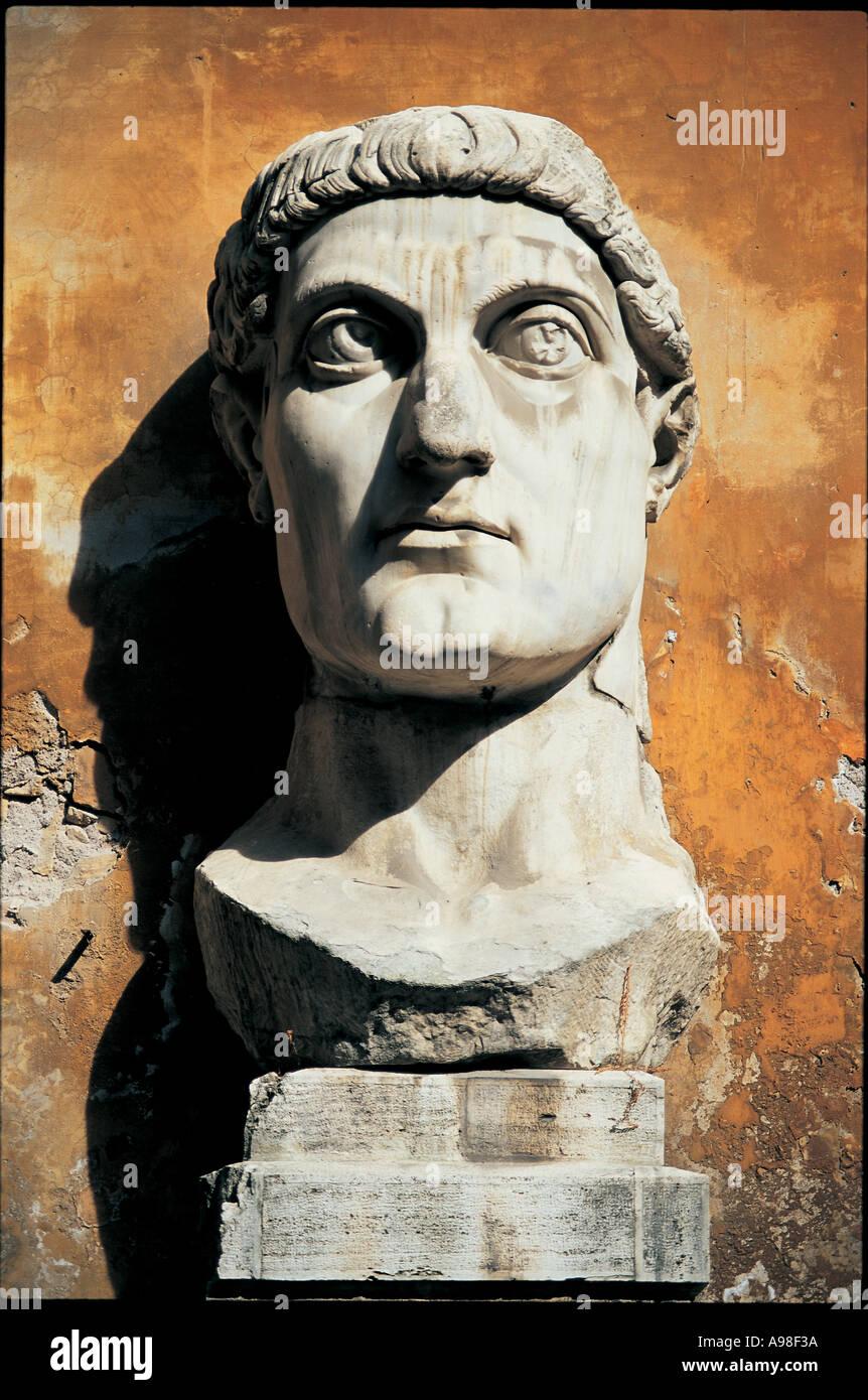 Roman Statue Rome Italy - Stock Image