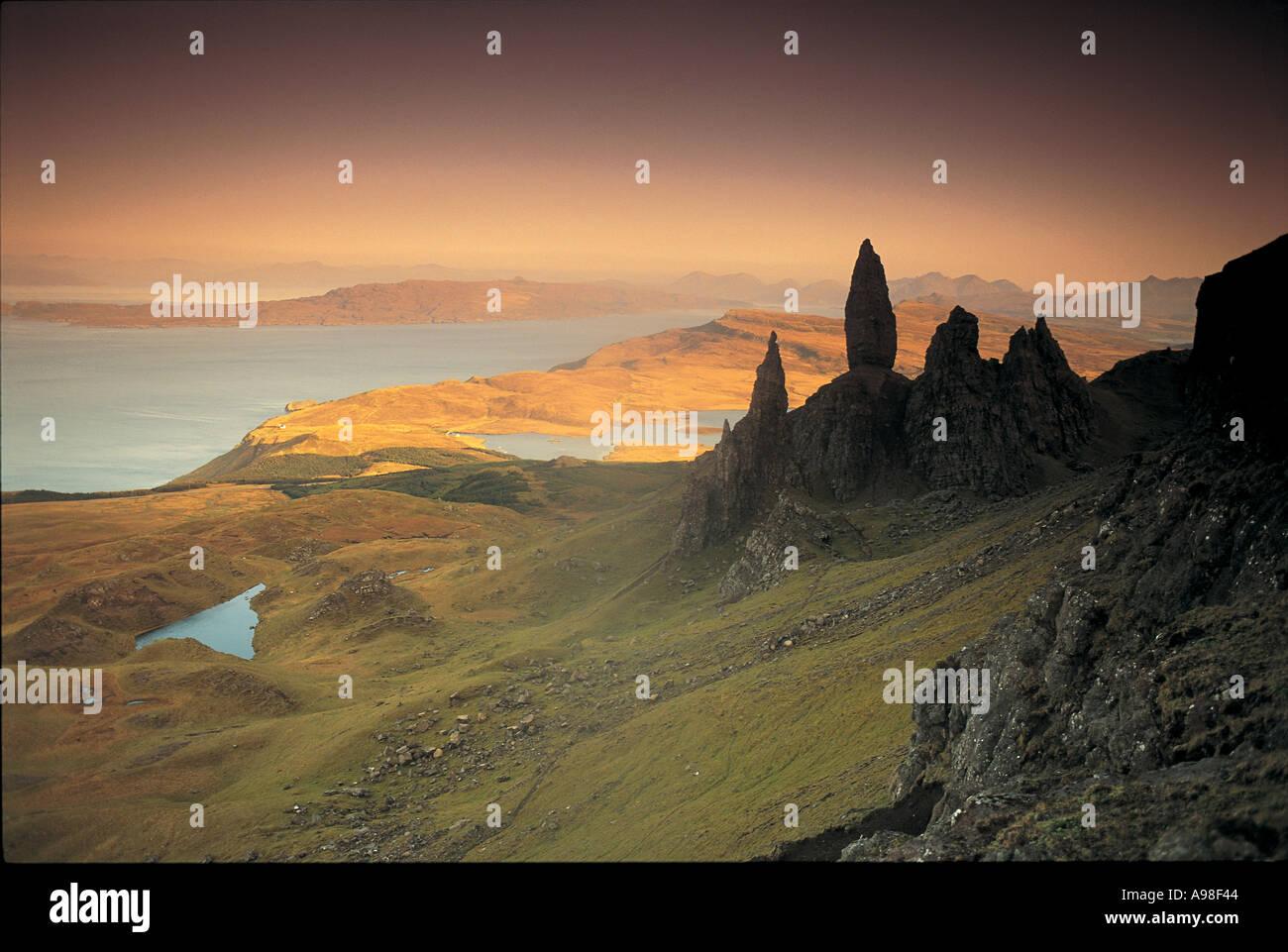 Old Man of Storr Quirang Isle of Skye Scotland UK - Stock Image