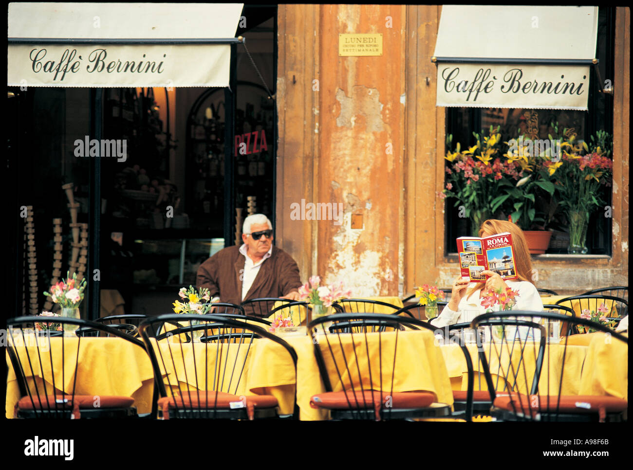 Cafe Bernini Rome Italy - Stock Image