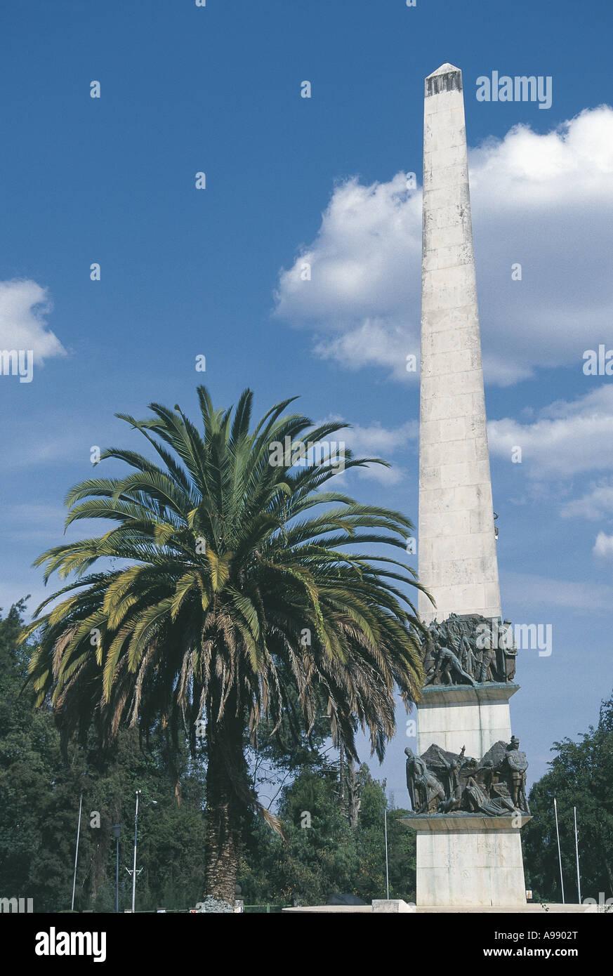 War monument at Sidist Kilo Addis Ababa Ethiopia - Stock Image