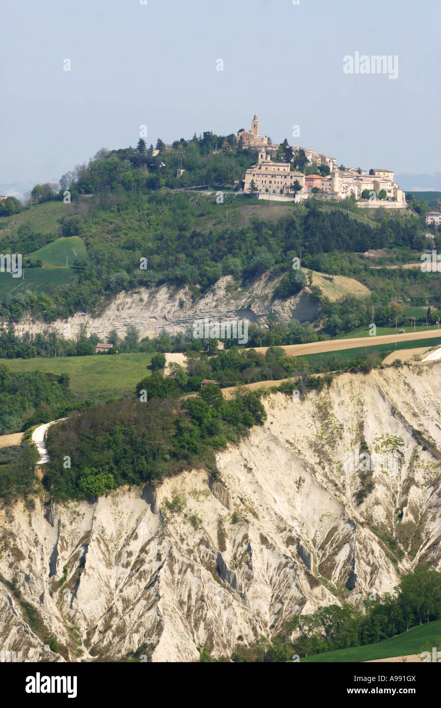 beautiful ,scenic and panoramic View from San Vittorio in Le Marche Italy Stock Photo