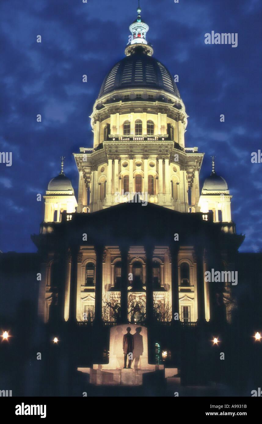Illinois State Capitol Springfield - Stock Image