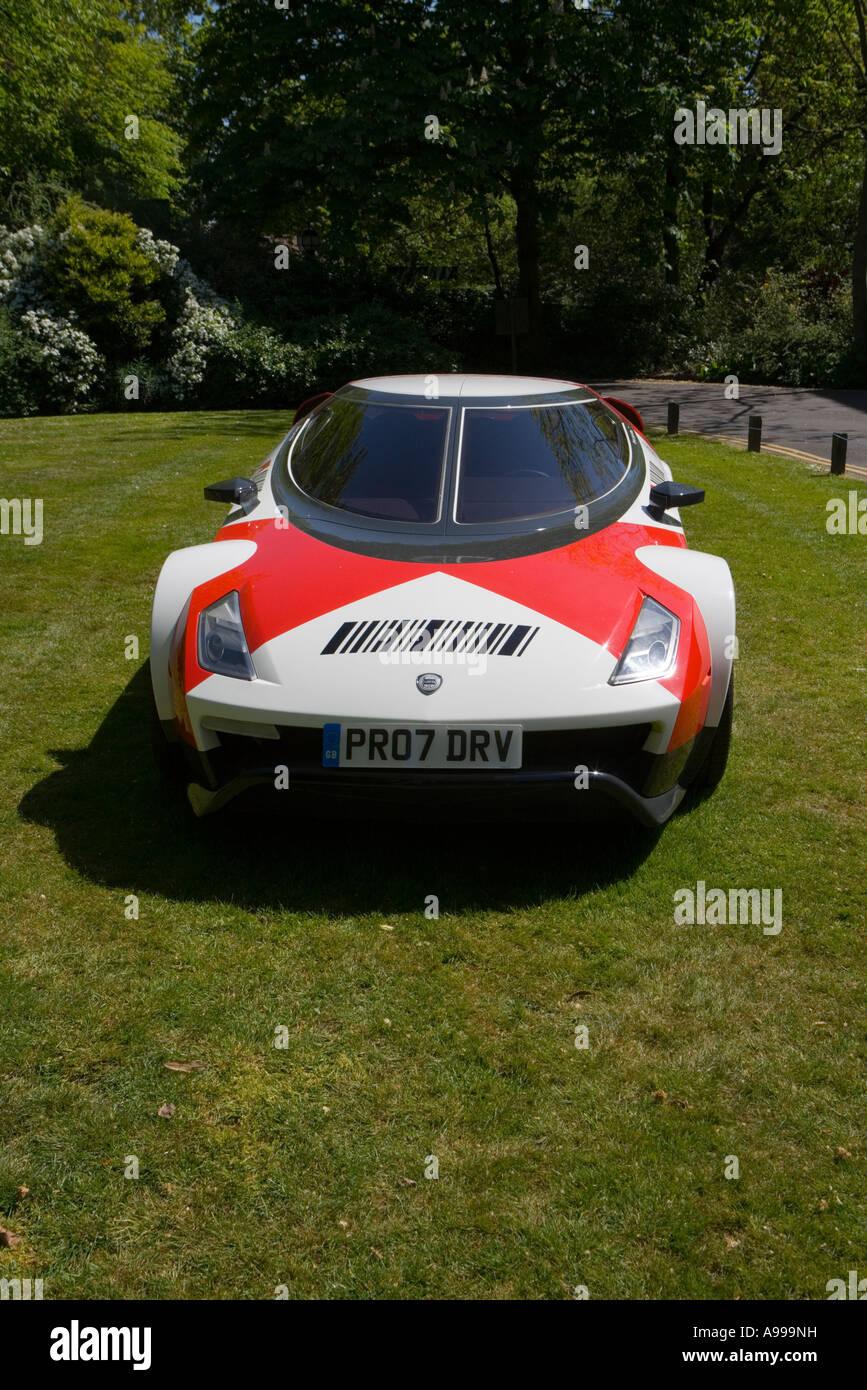 Rally-winning Lancia Stratos exhibit in gardens of Regent's Park College, London - Stock Image
