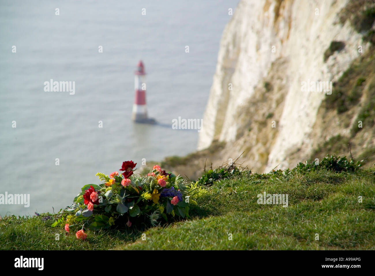 Lighthouse On Cliff Top Stock Photos & Lighthouse On Cliff