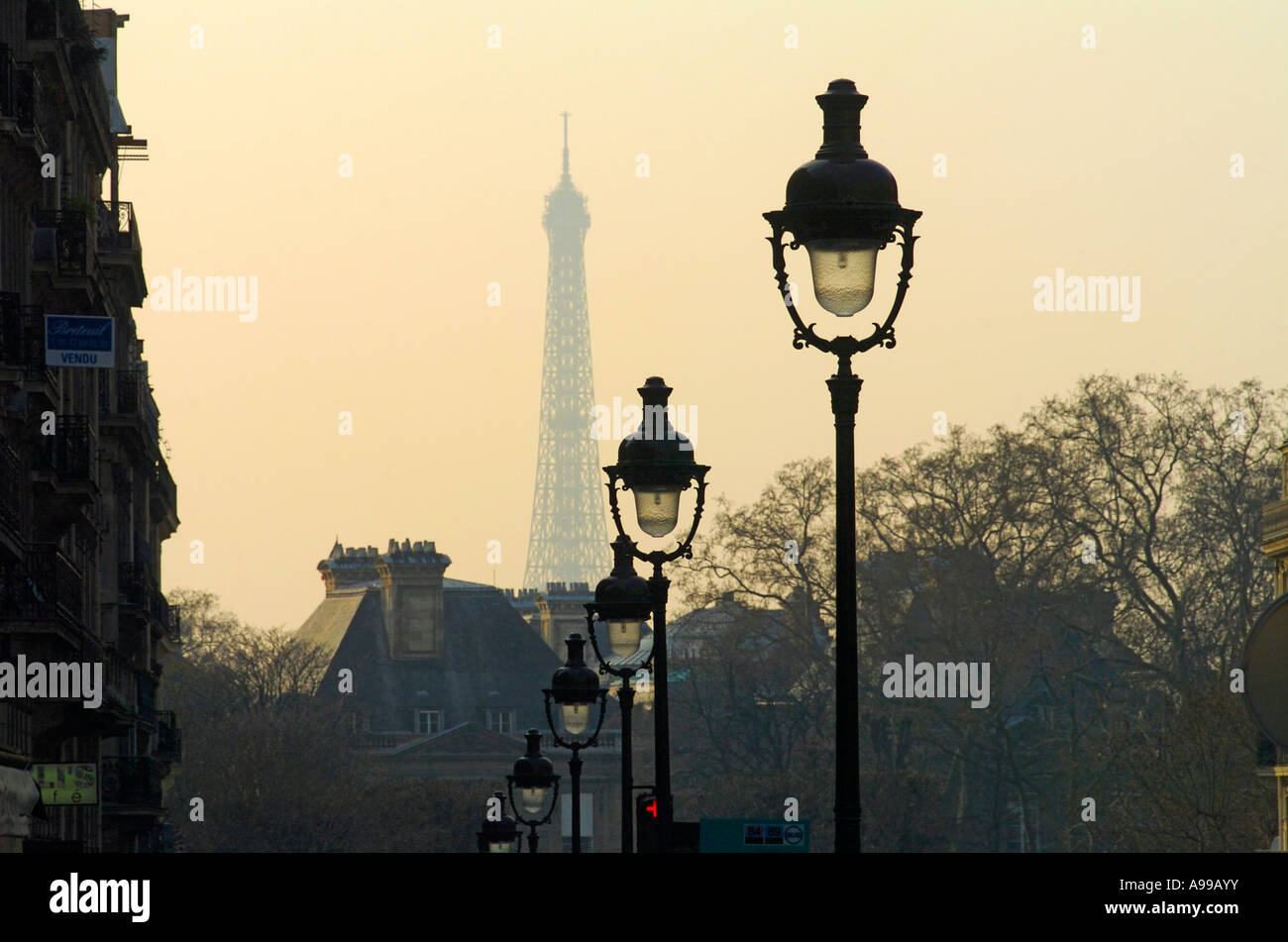 Elegant street lamps in the streets of Paris with the Eiffel Tower ... for Street Lamps Photography  568zmd