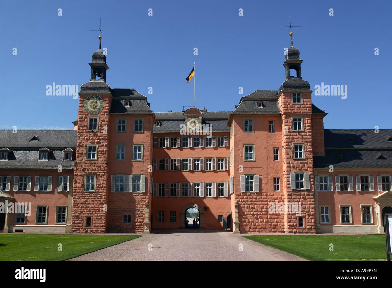 The baroque palace at Schwetzingen near to Heidelberg in Germany - Stock Image