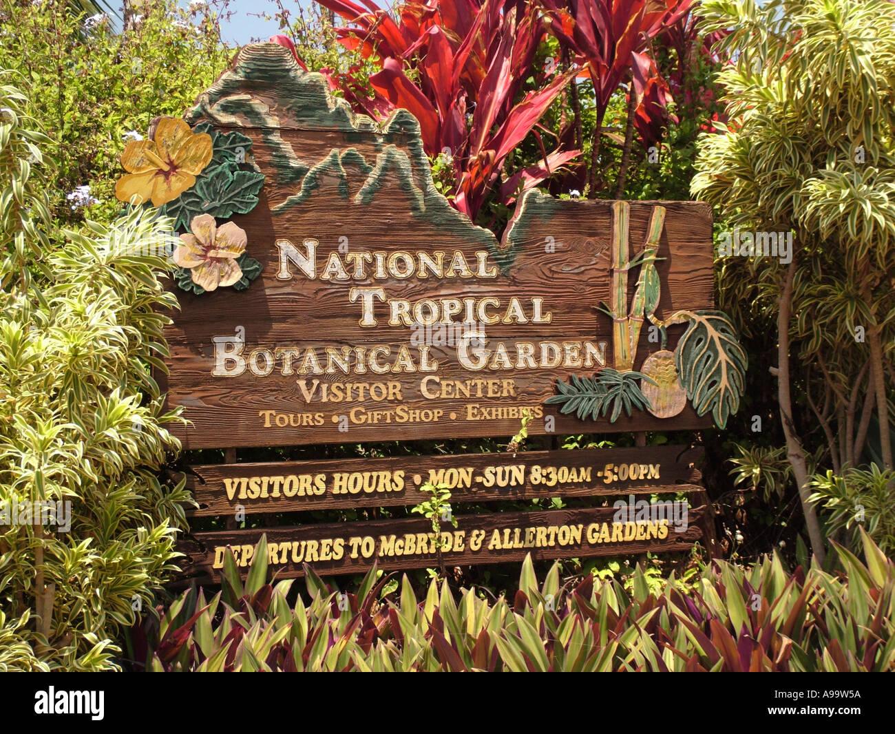 Hawaiian Islands National Tropical Botanical Garden Stock Photos ...