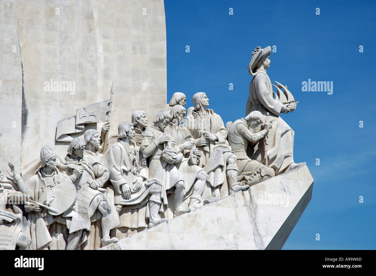 Lisbon Portugal Belem Monument to the Discoveries - Stock Image