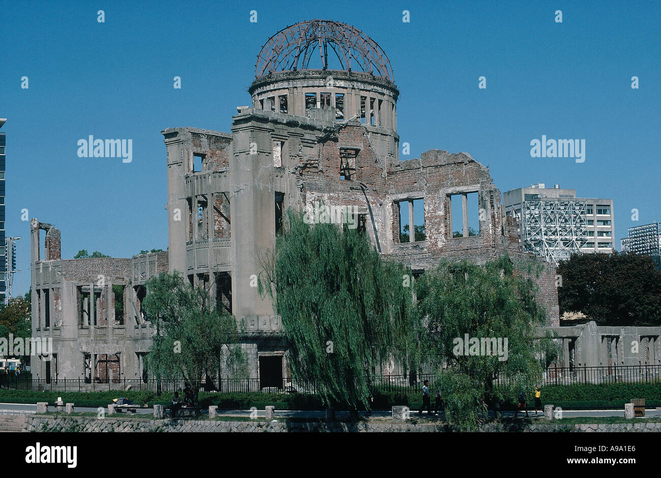 JAPAN Honshu Hiroshima The A Bomb Dome at Ground Zero Ruins at the epicentre of the atomic bomb nuclear explosion. - Stock Image