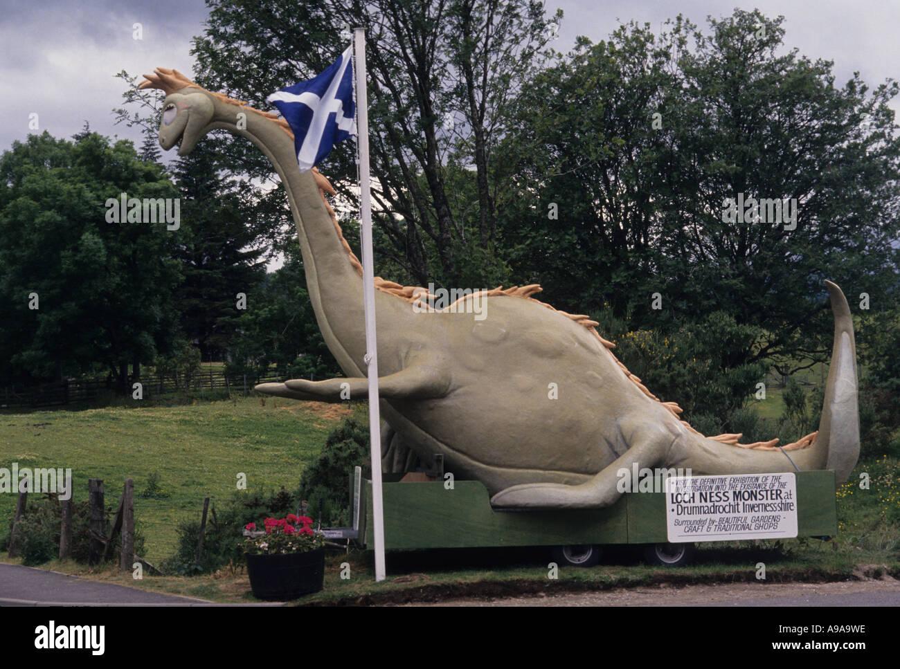 Scotland Loch Ness monster Nessie - Stock Image
