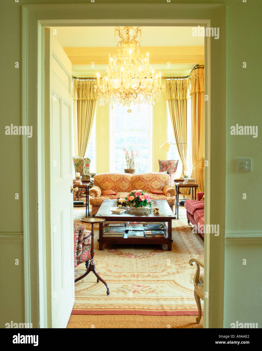 Country House Dra2wing: 18th Century Country House Stock Photos & 18th Century