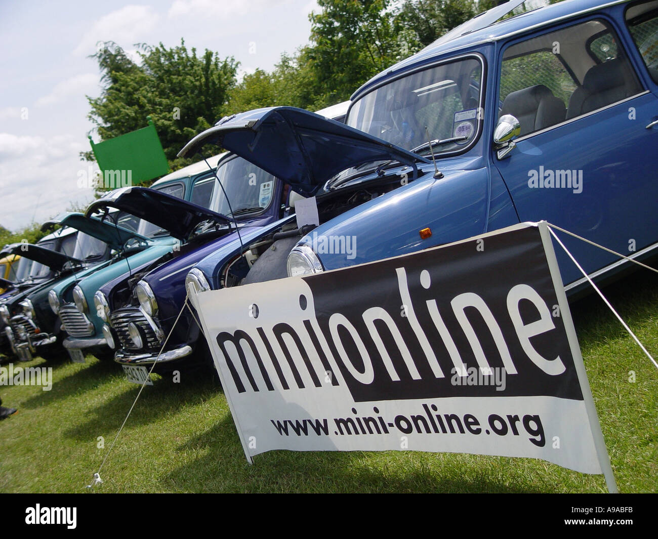 Motor racing cars at an event England GB UK 2003 - Stock Image