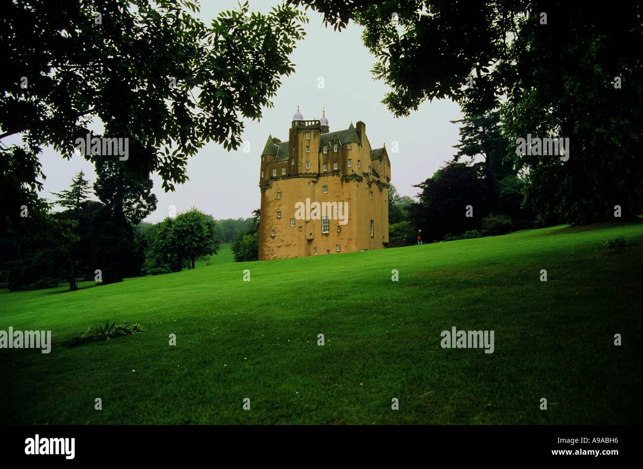 Craigievar castle scotland tourism - Stock Image