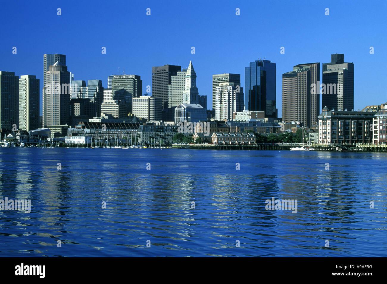 DOWNTOWN SKYLINE BOSTON  MASSACHUSSETTS USA - Stock Image