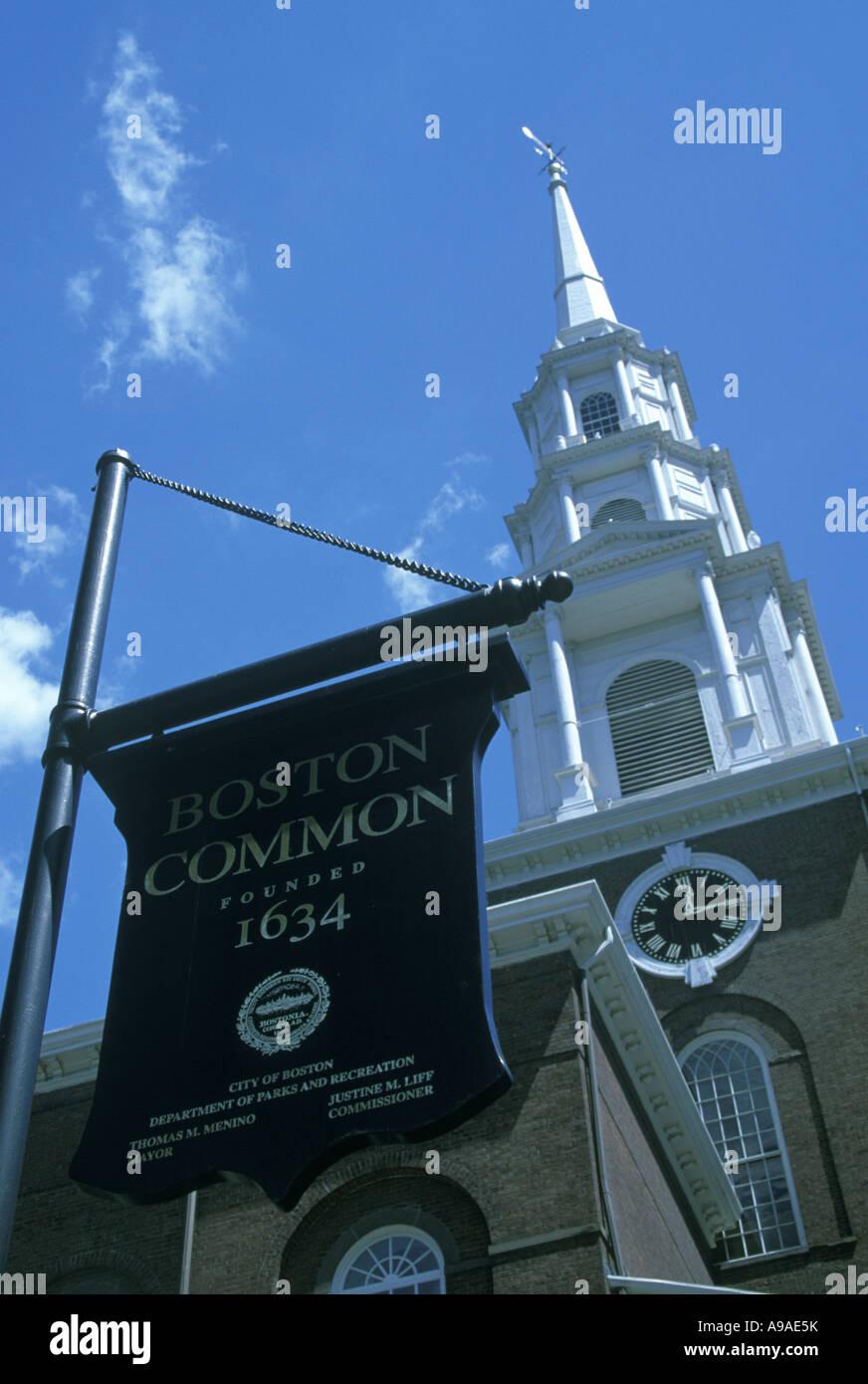 COMMON SIGN BOSTON  MASSACHUSSETTS USA - Stock Image