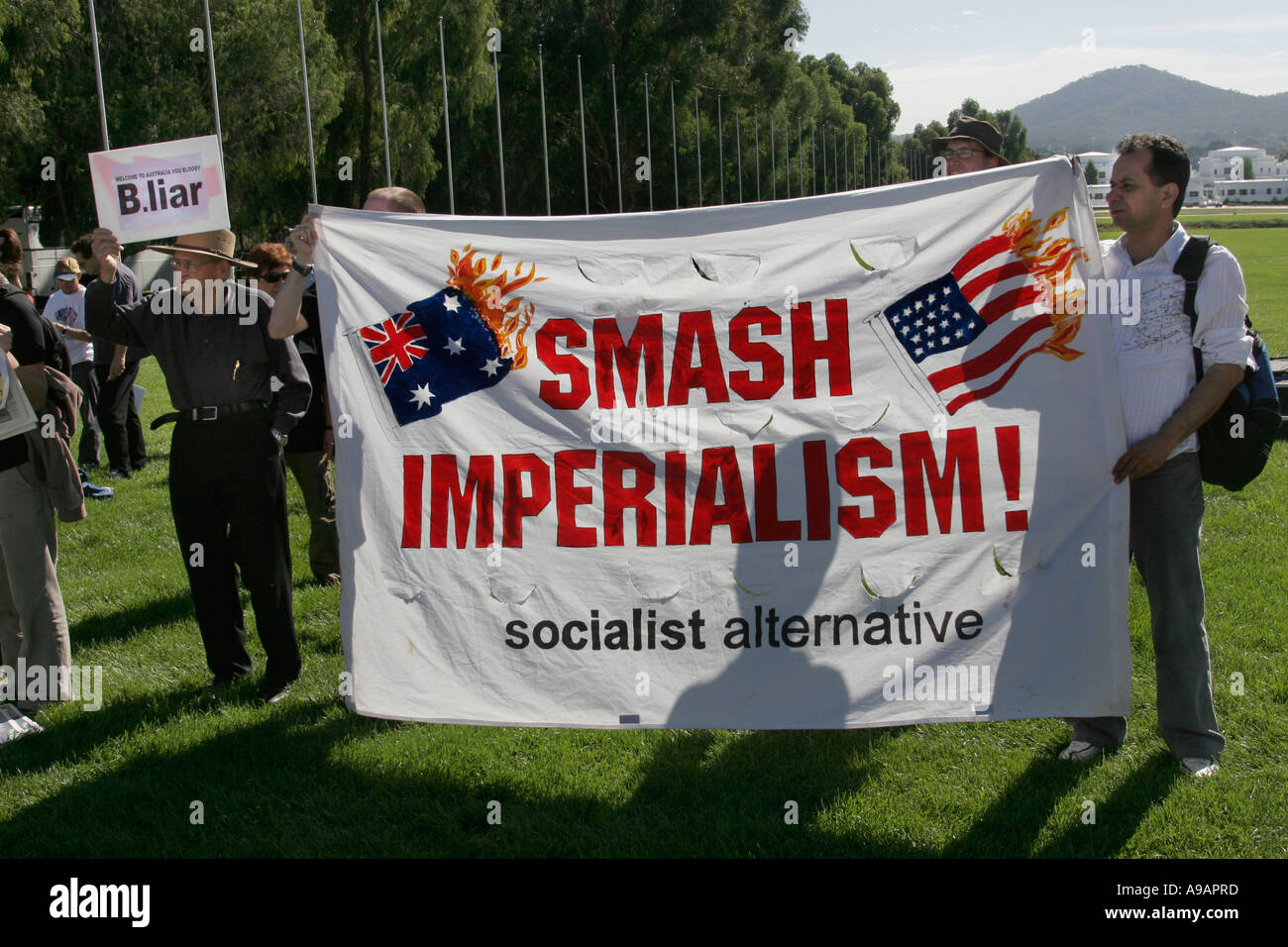 Smash Imperialism - Stock Image