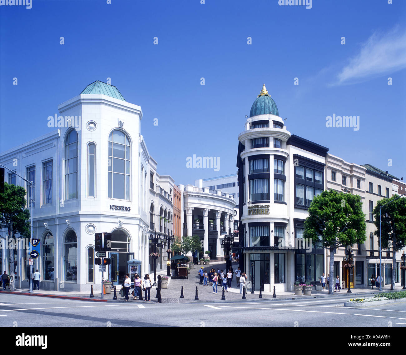 SHOPS RODEO DRIVE BEVERLY HILLS LOS ANGELES CALIFORNIA USA Stock Photo