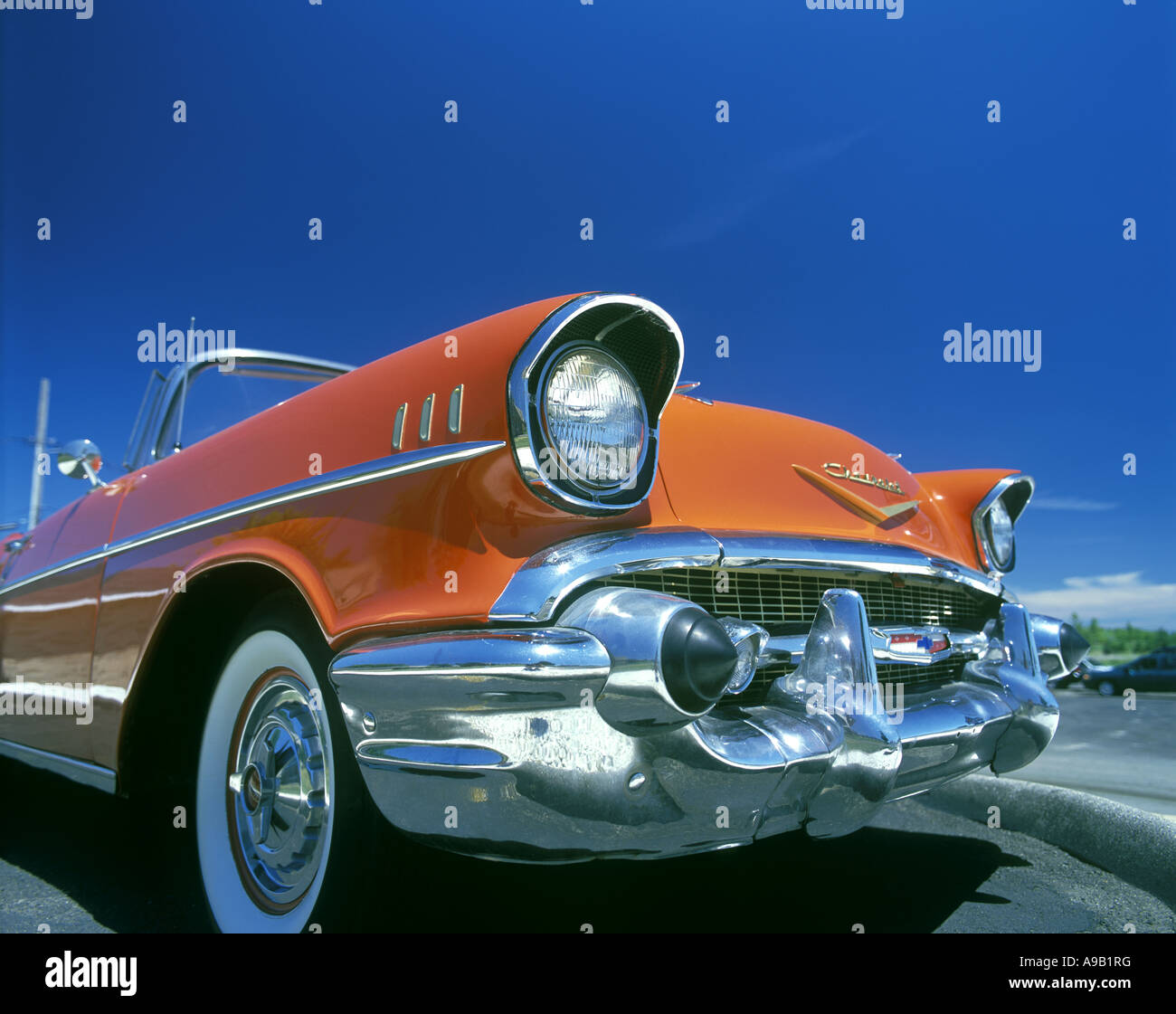 1957 CHEVROLET BELAIR CONVERTIBLE   Stock Image