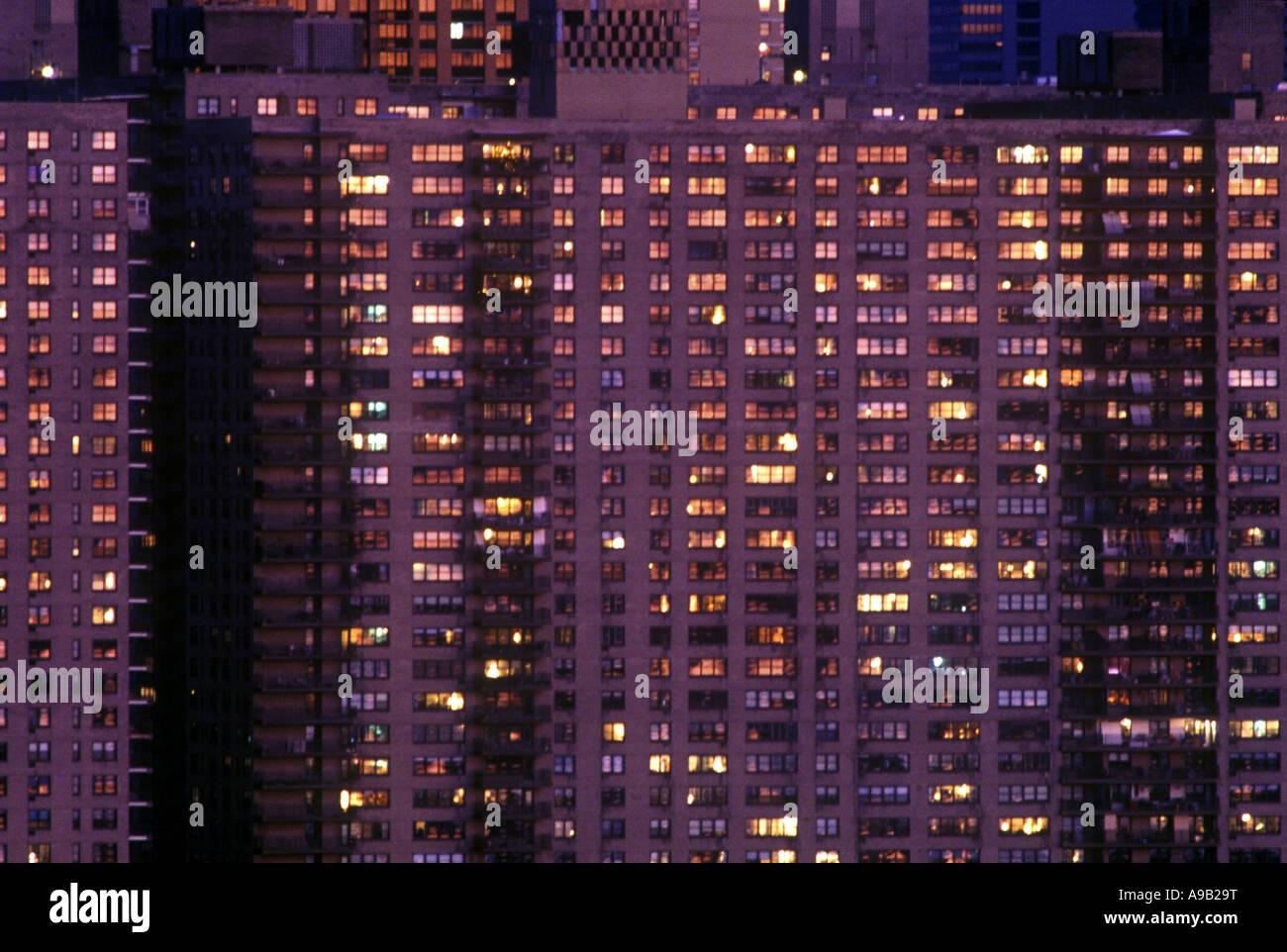 tall apartment buildings upper west side manhattan new york usa