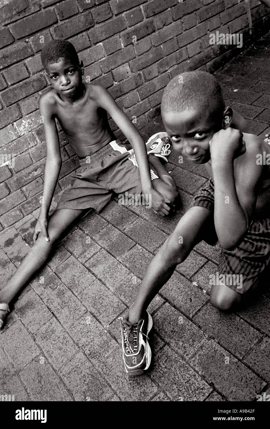 Kids hanging around in south London council estate - Stock Image