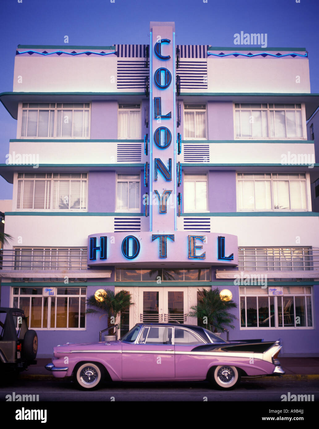 1950s cadillac automobile colony hotel ocean drive south. Black Bedroom Furniture Sets. Home Design Ideas