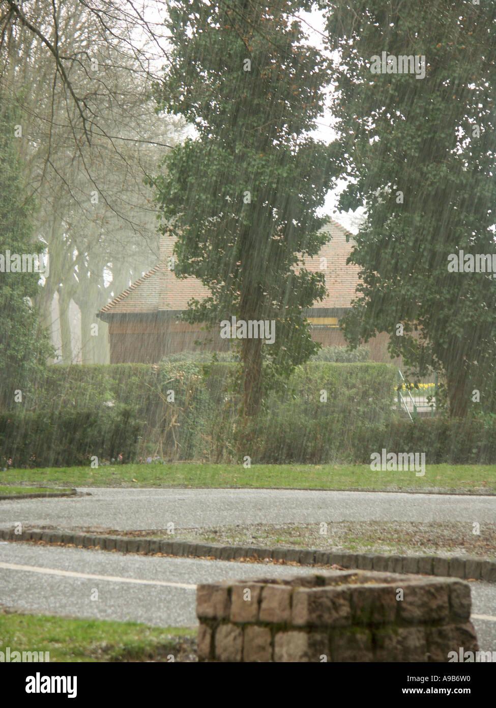 April Hail Storm 1 - Stock Image