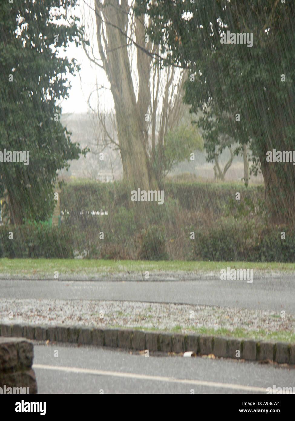 April Hail Storm 3 - Stock Image