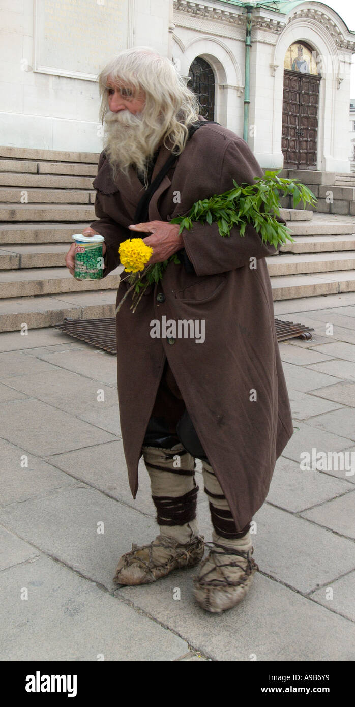 Vagrant tramp homeless person man beard ragged clothes old ...  Ragged Clothes