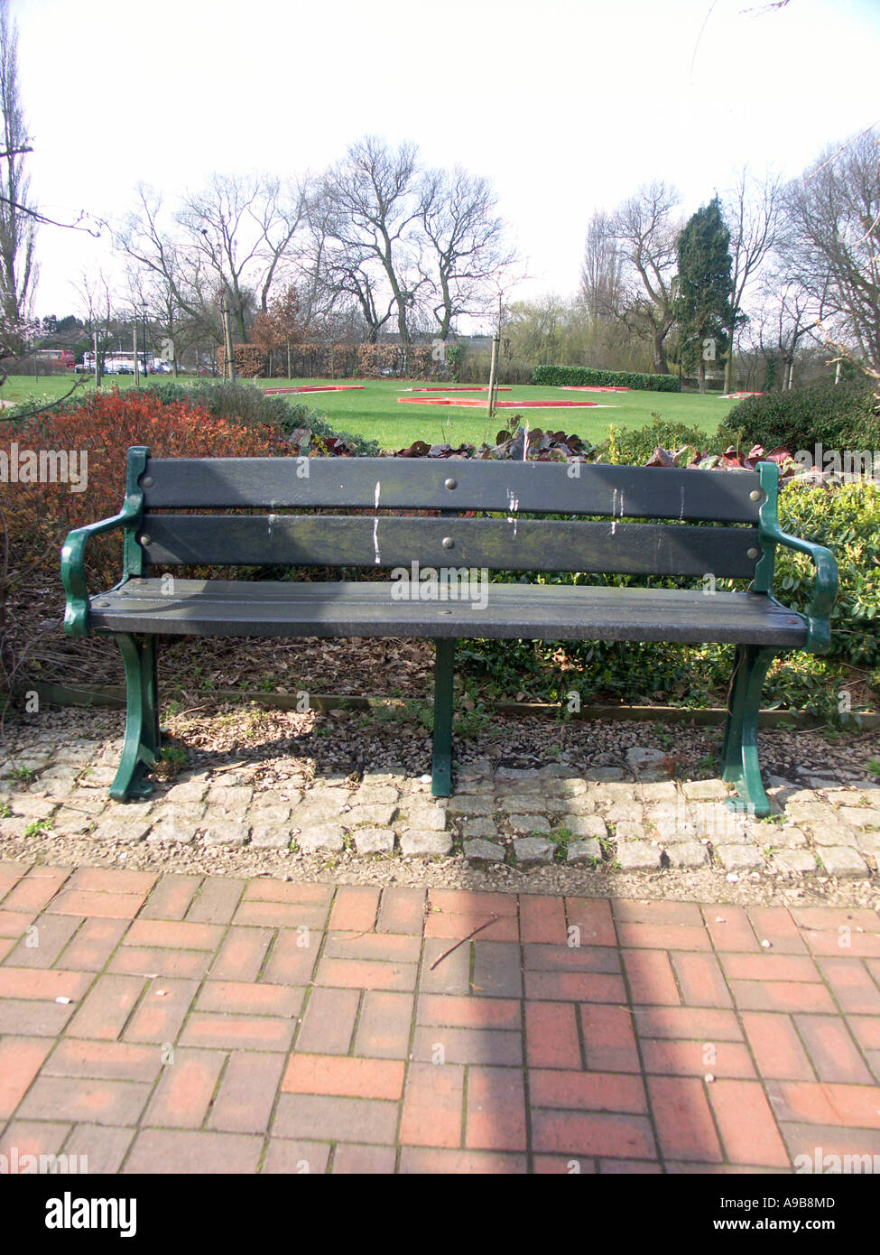 Picture of: Park Bench With Seating Slats Made From Recycled Plastic Waste Stock Photo Alamy