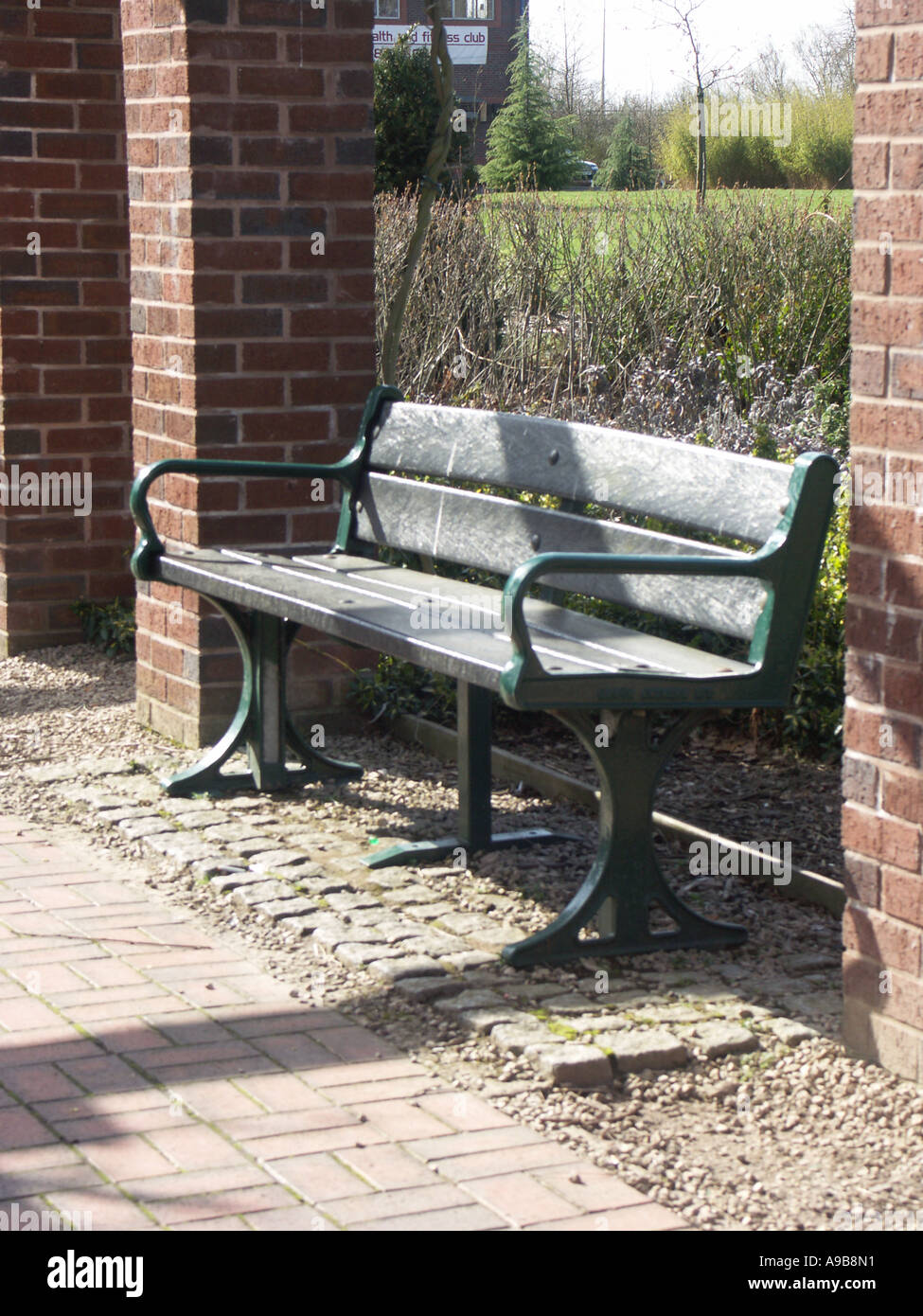 Picture of: Park Bench With Seating Made From Recycled Plastic Stock Photo Alamy