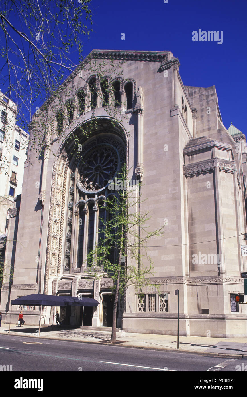 Temple Emmanuel Fifth Avenue Manhattan New York City Usa Stock Photo