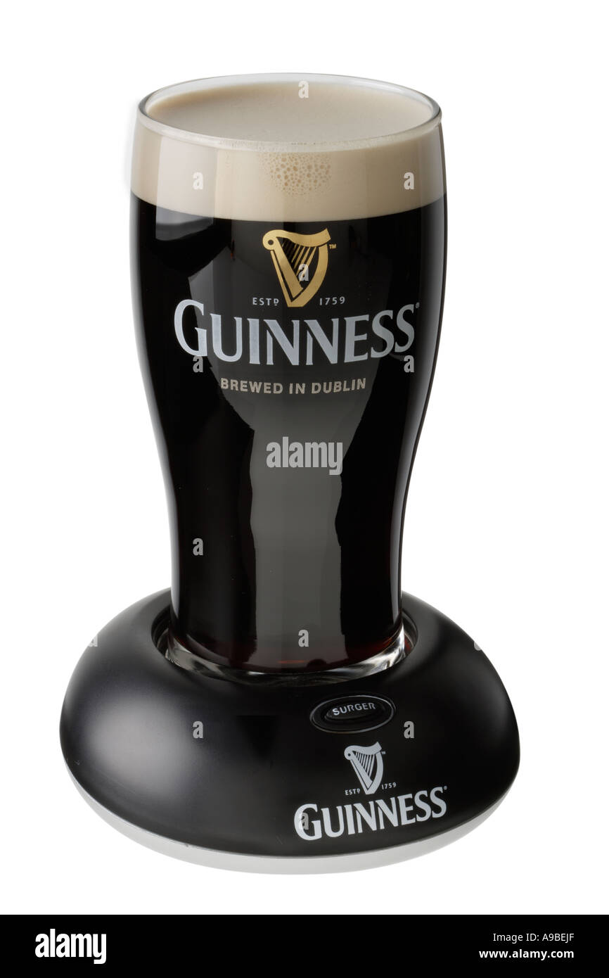draught Guinness beer Brewed in Dublin Ireland - Stock Image