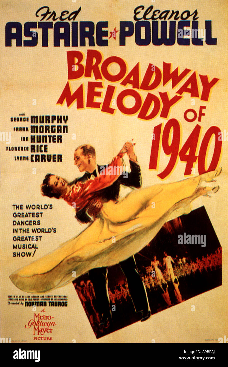 BROADWAY MELODY OF 1940 - poster for the 1939 MGM film with Fred Astaire and Eleanor Powell - Stock Image