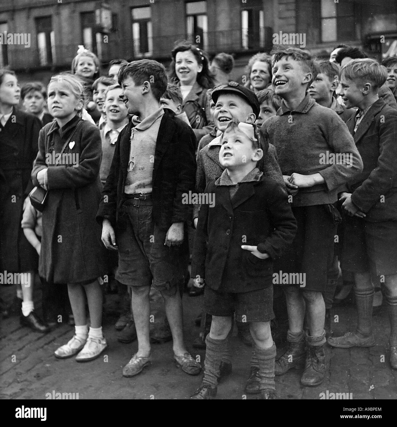 CHILDREN watching a puppet show in London about 20 Stock Photo ...