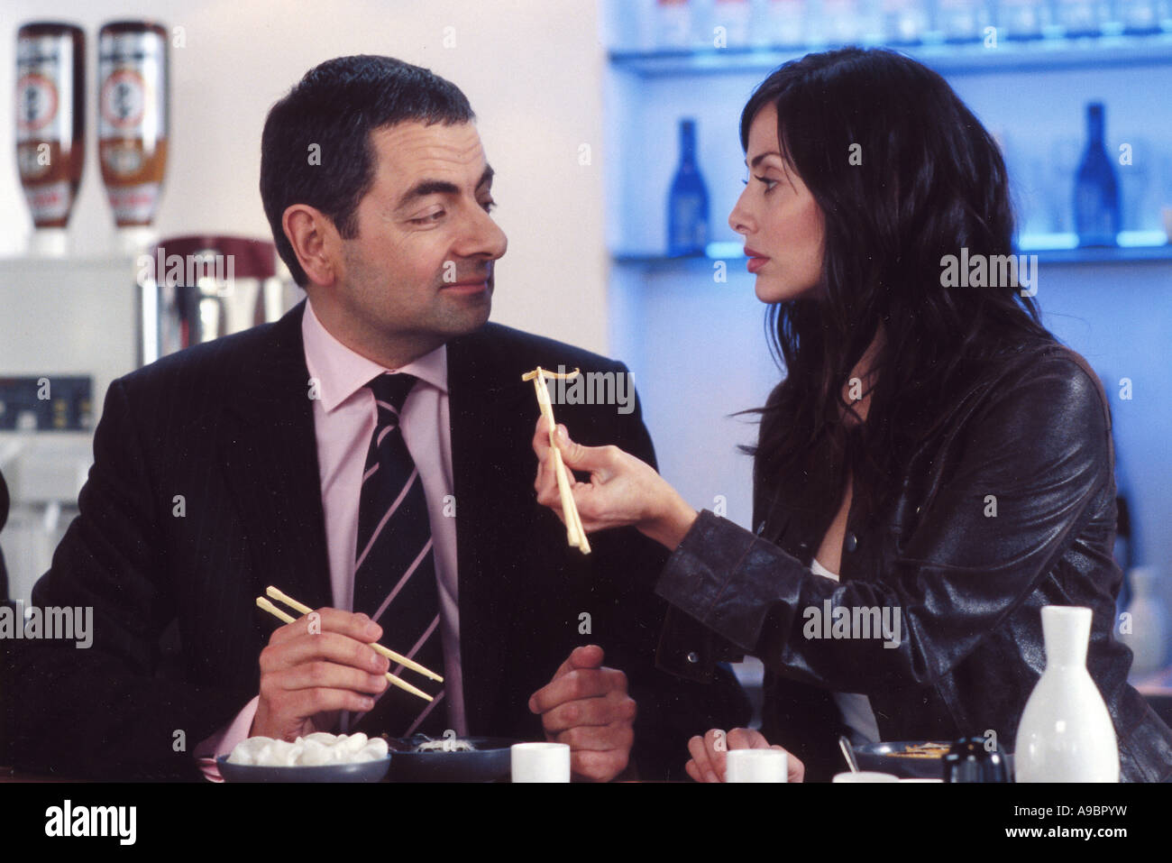 JOHNNY ENGLISH - 2003 Universal film with Rowan Atkinson and Natalie Imbruglia - Stock Image