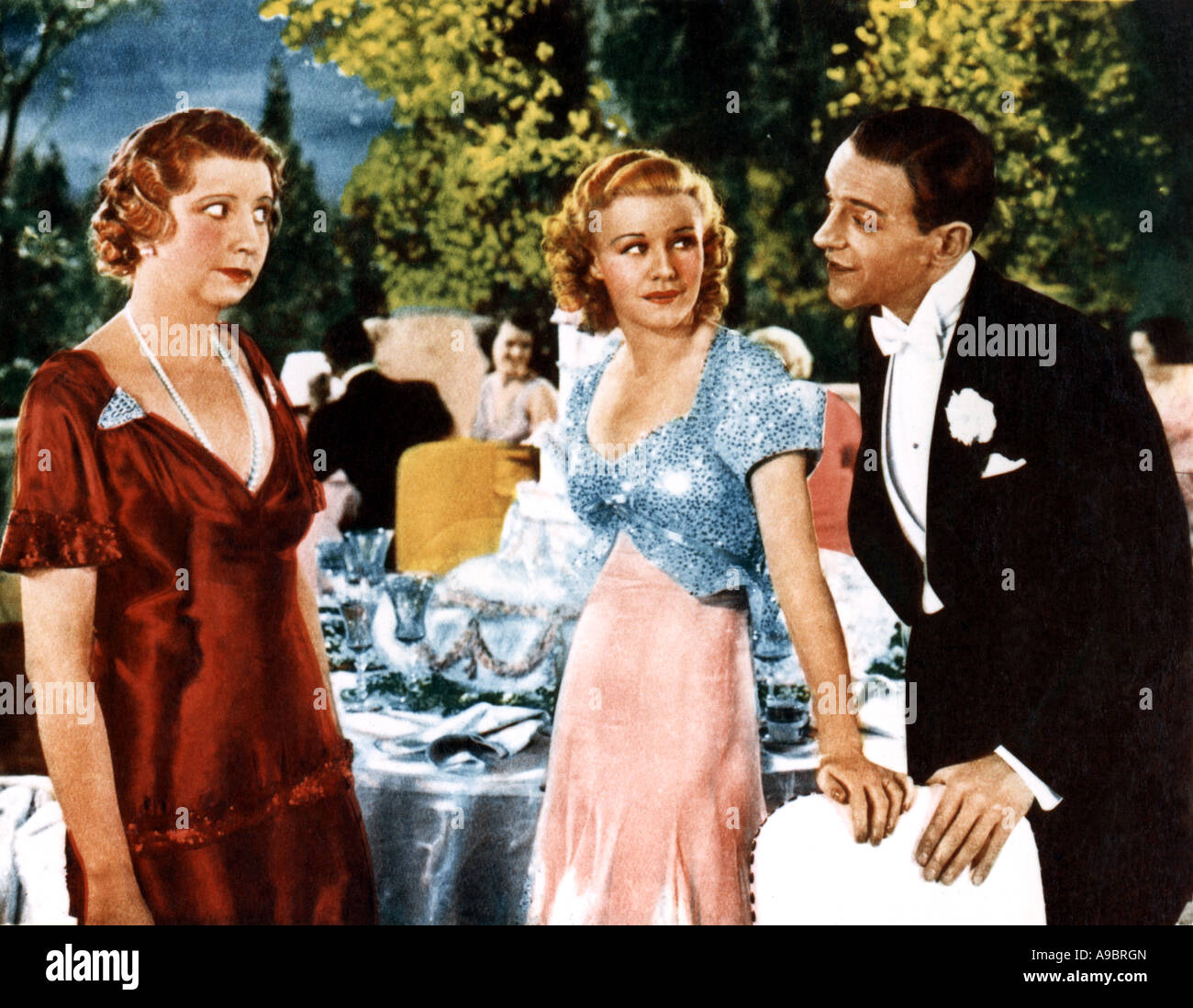 Top Hat 1935 Rko Musical With Ginger Rogers Centre And Fred Stock Photo Alamy
