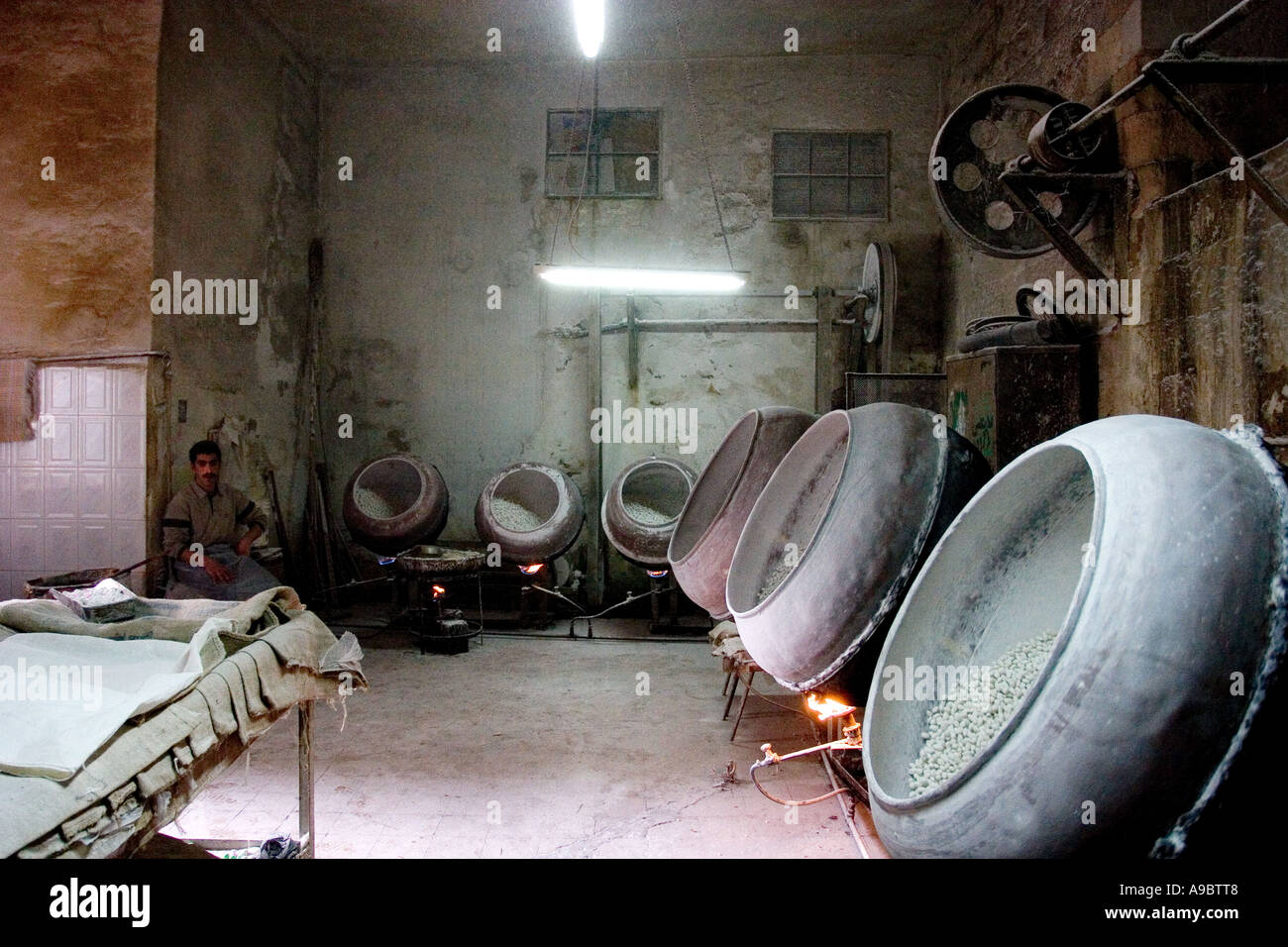 naplus palestin the west bank candy factory february 2006 - Stock Image