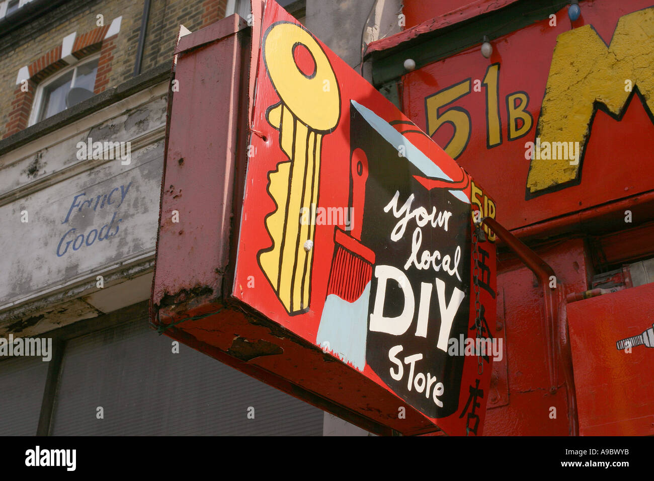 Diy london home stock photos diy london home stock images alamy a home made sign to a do it yourself shop in finsbury park london solutioingenieria Images