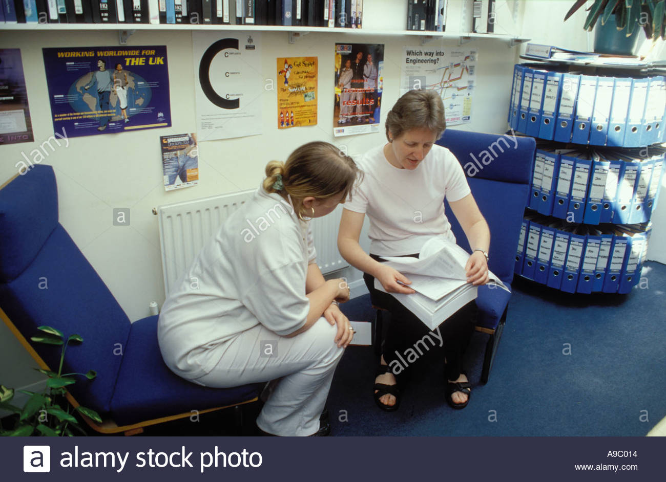 Careers advice Further Education college East London - Stock Image