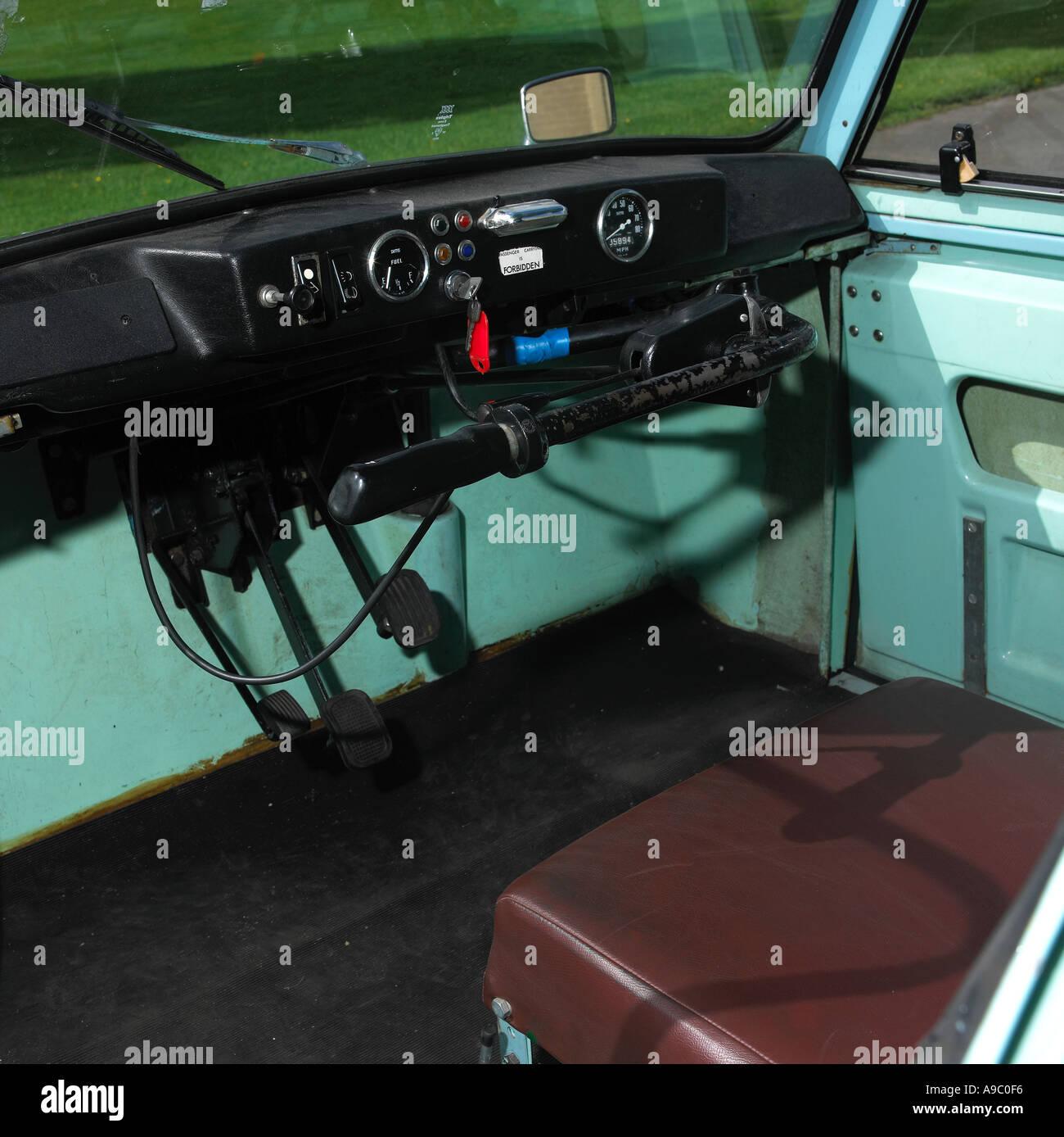 1976 AC model 70 invalid carriage interior - Stock Image