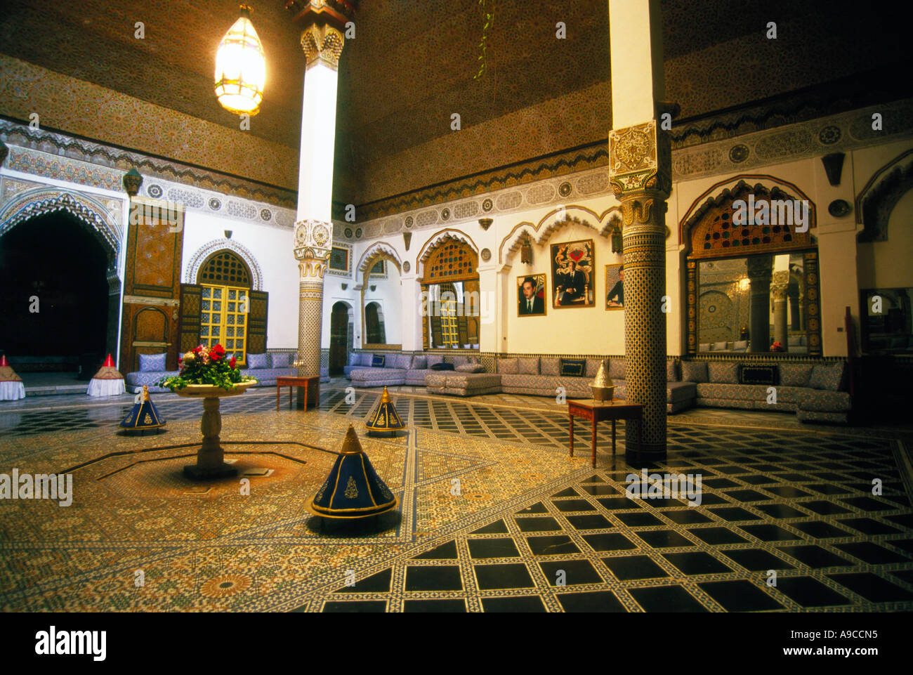 Interior Of A Moroccan Restaurant Fes Stock Photo Alamy
