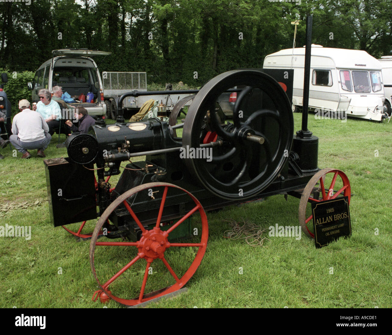 1907 Allan oil engine 6 horse power hp - Stock Image