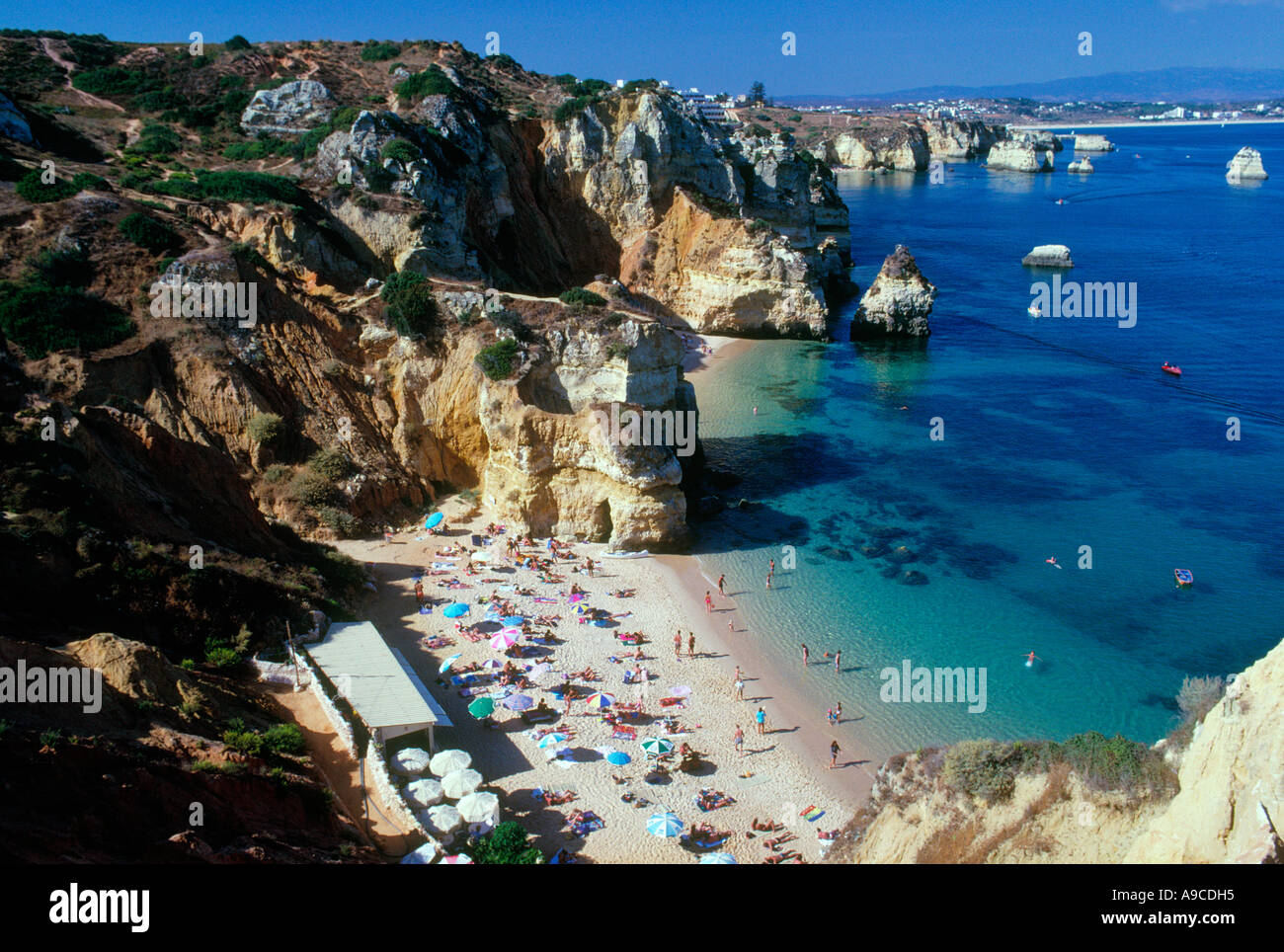 Beach resort Lagos Algarve Portugal - Stock Image