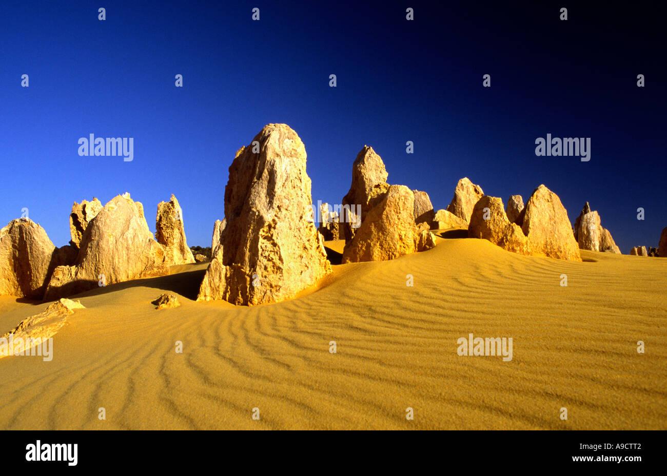 The Pinnacles Desert  Nambung National Park Western Australia - Stock Image