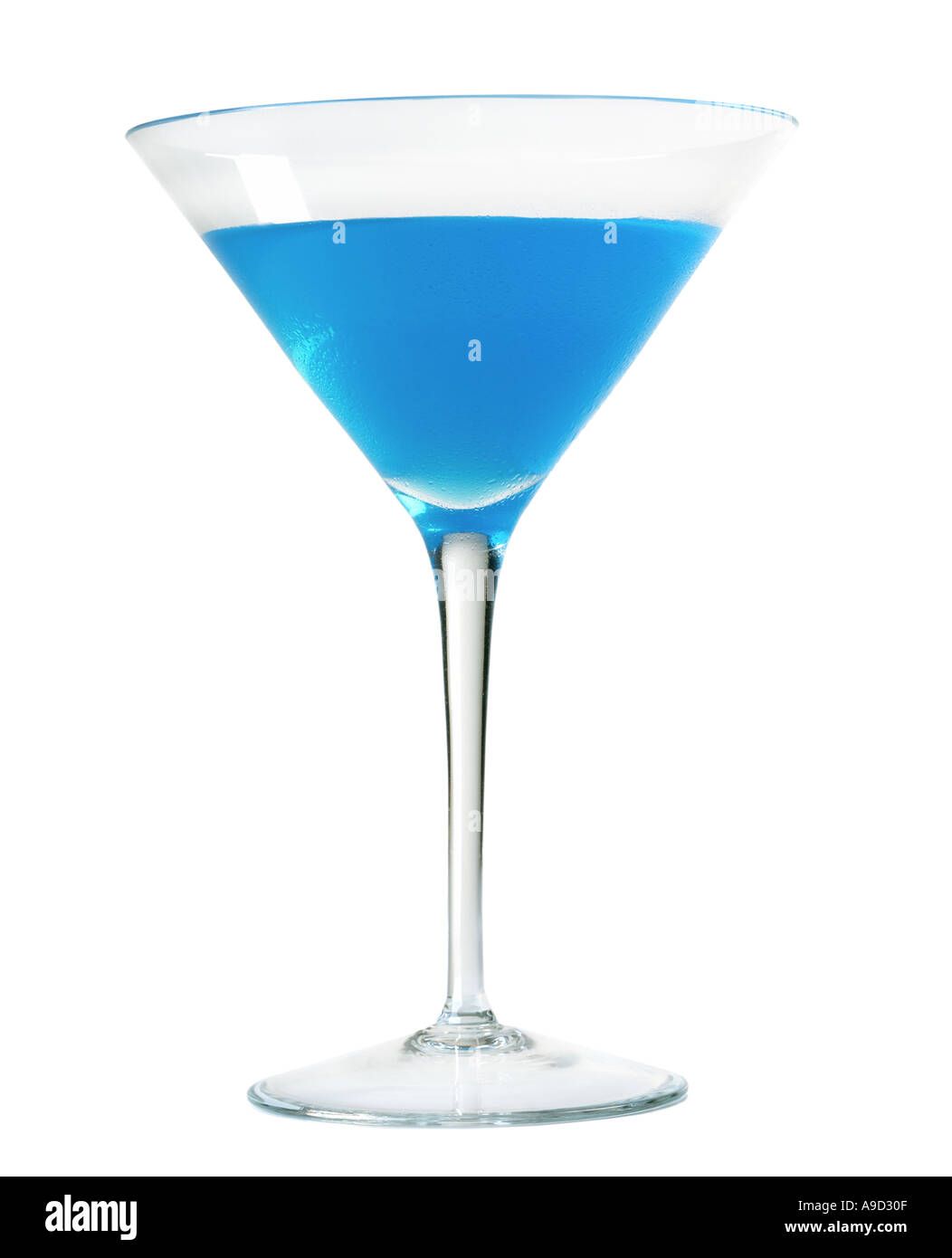 Blue martini - Stock Image