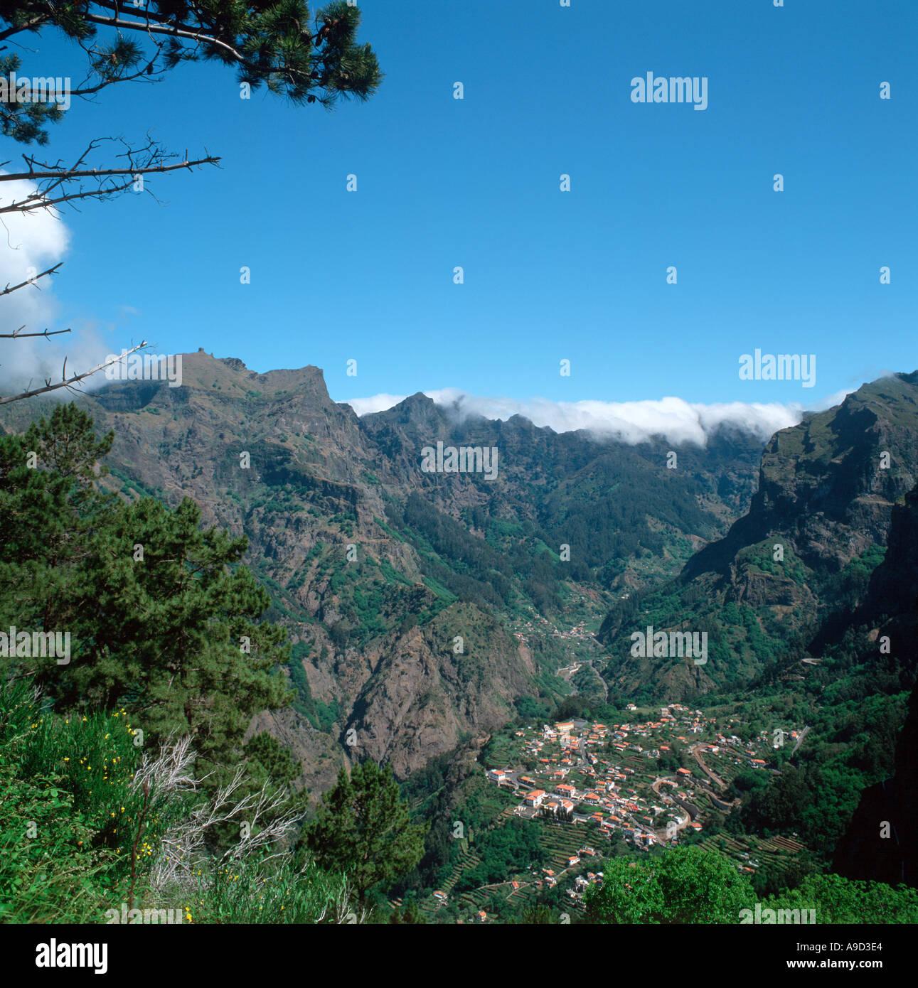 The mountain village of Curral das Freiras (Valley of the Nuns), Madeira, Portugal - Stock Image